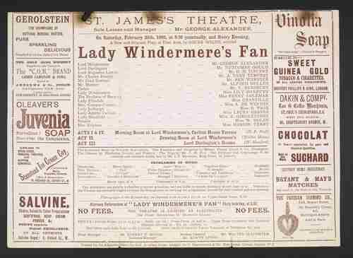 Wachlarz Lady Windermere –  scenariusz